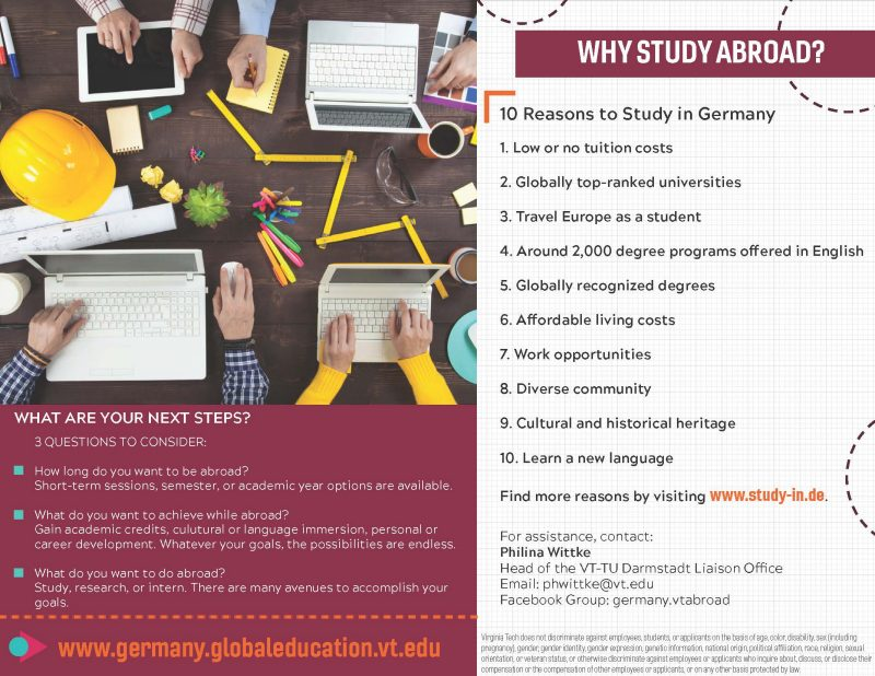 Reasons to study in Germany list